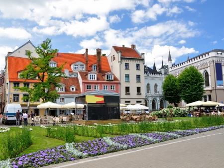 Maisons dans la vieille ville de Riga, en Lettonie