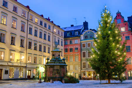 sweden: Along the streets of The Old Town  Gamla Stan  in Stockholm