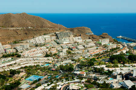 bird view: Puerto Rico resort in Gran Canaria, bird view