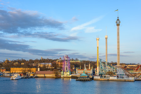 View over the amusement park in Stockholm, Sweden
