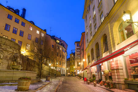 gamla stan: Along the streets of Gamla Stan in Stockholm, Sweden Stock Photo