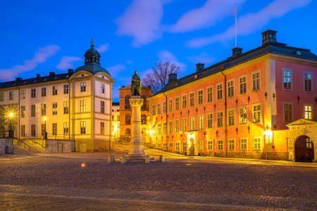 gamla stan: Riddarholmen is adjacent to the Old Town (Gamla Stan) in Stockholm, Sweden Stock Photo