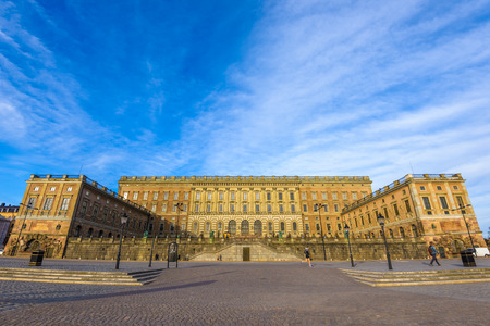 king palace: The palace in Gamla Stan Sweden where king Carl XVI Gustaf has his working office Editorial
