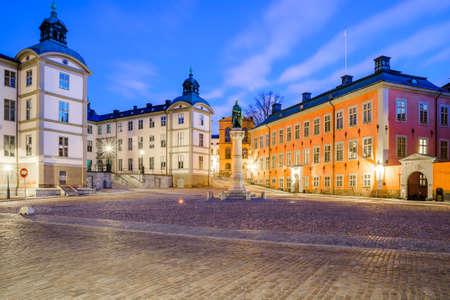 adjacent: Birger Jarls sqare is located in Riddarholmen adjacent to Gamla Stan in Stockholm, Sweden