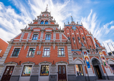 latvia: The House of the Blackheads building in Riga, Latvia Editorial