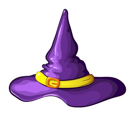 Vector Illustration Of Purple Cartoon Halloween Witch Hat With Royalty Free Cliparts Vectors And Stock Illustration Image 131015641