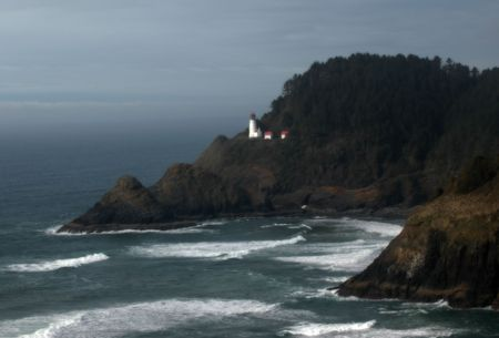 Heceta Head historic lighthouse, pacific coast, Oregon