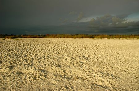 View of Marco Island, Florida sandy beach at sunset photo