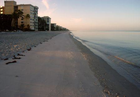 Naples, Florida sandy beach in the morning Stock Photo - 3348812