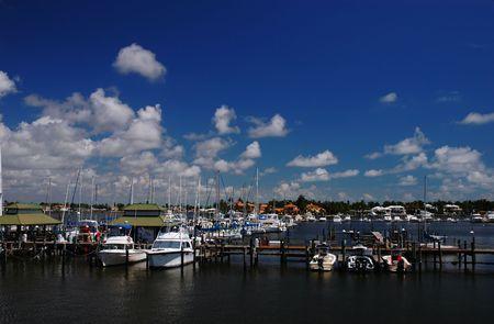 Boats and yachts at Naples Bay marina