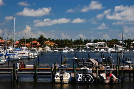 Boats and yachts at Naples Bay marina