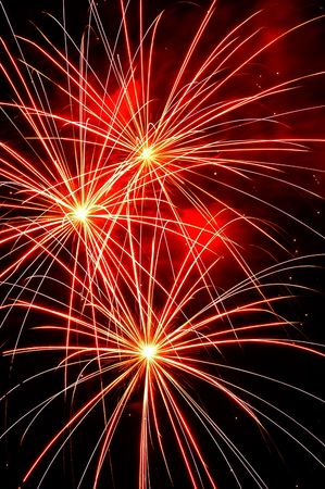 Independence Day celebration fireworks explosion on the night sky
