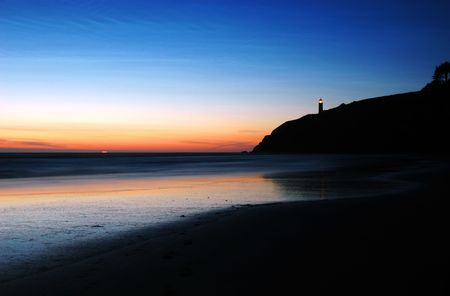 northwest: Sunset at Benson Beach, Cape Disappointment State Park