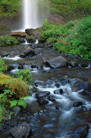 Lower part of Latourell falls along the Columbia Gorge Scenic Highway, Oregon, Guy W. Talbot State Park photo