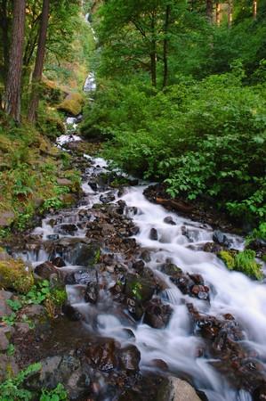 Wahkeena falls at Clolumbia River Gorge, Oregon