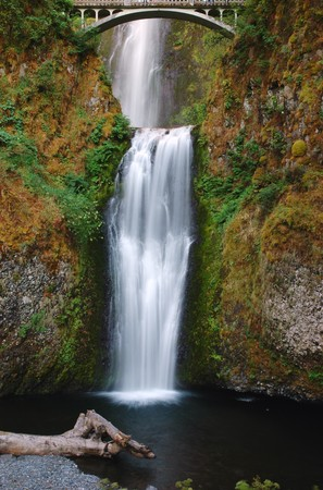 oregon cascades: Multnomah fall of Columbia River Gorge, Oregon Stock Photo