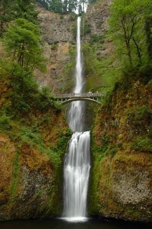 Multnomah fall of Columbia River Gorge, Oregon photo