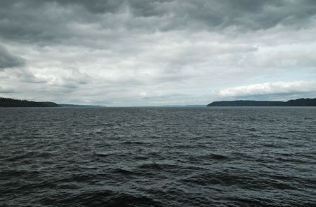 puget: Storm clouds over the Puget Sound