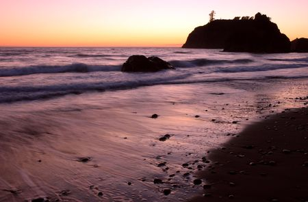 Sunset at Ruby Beach, Olympic National Park, Washington