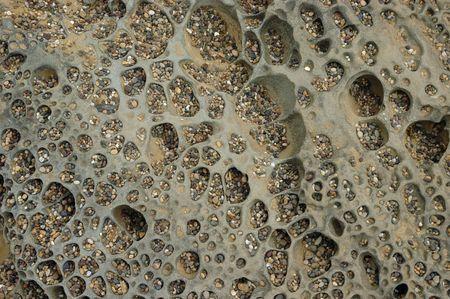 hollows: Quartz pebbles in a sandstone hollows