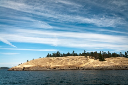 puget: Velvety hills of an island in Puget sound