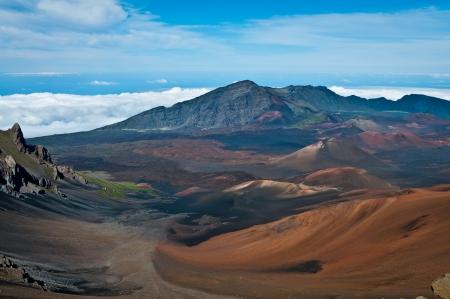 At Haleakala crater in Haleakala National Park, Hawaii Stock Photo