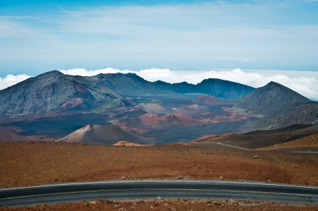 Haleakala crater in Maui, Hawaii photo