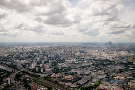 City of Moscow view from Ostankino tower 版權商用圖片
