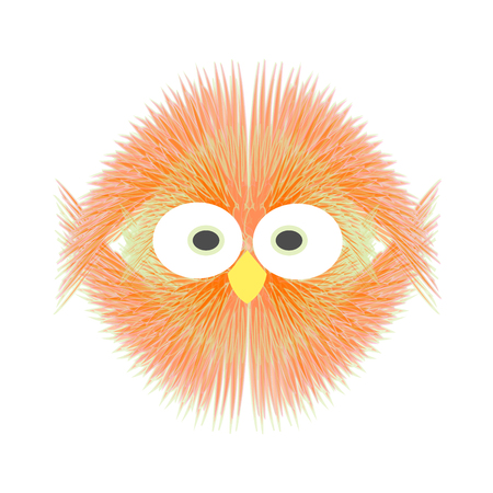 symmetrical: Symmetrical red chick  Illustration