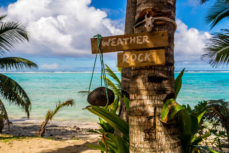 weather rock in the paradise. Cook Islands