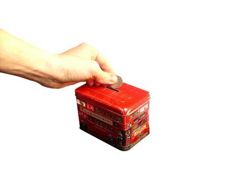 hypothec: Money box Stock Photo