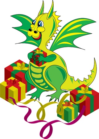 dragon symbol of the new year on the Chinese calendar Illustration
