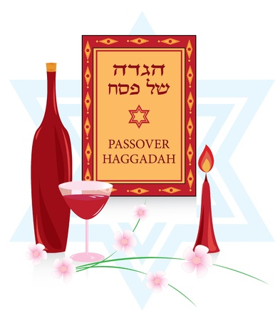 congratulations to the Jewish holiday of Passover, and a few characters for the Passover Seder