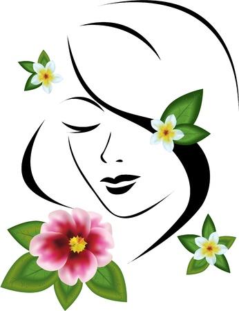 femme avec des fleurs
