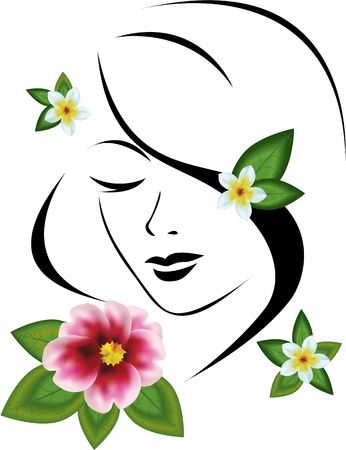 woman with flowers Stock Vector - 12819910