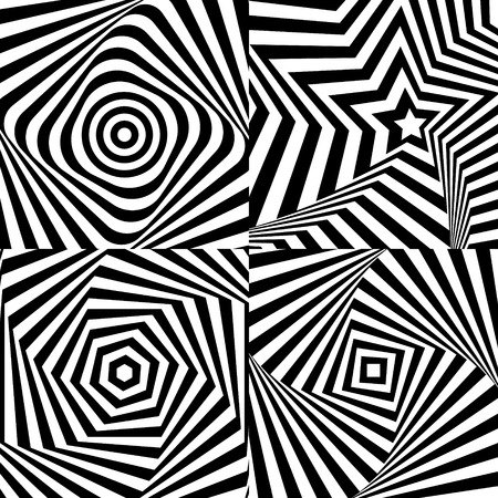 Optical illusion with texture  Vector