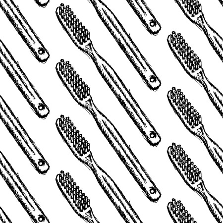Sketch tooth brush Vector