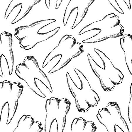 Sketch teeth Vector
