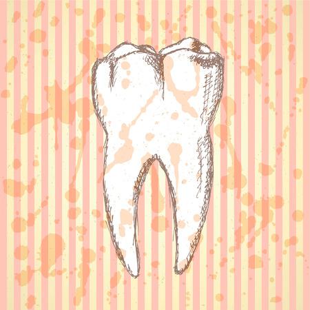 Sketch teeth Illustration