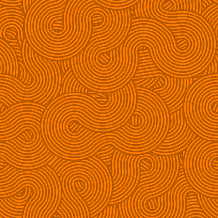 Circles and swirls vintage seamless pattern  Vector