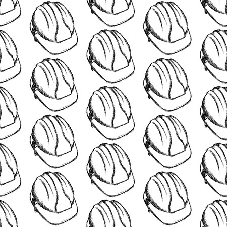 Sketch helmet, vector vintage seamless pattern eps 10 Vector