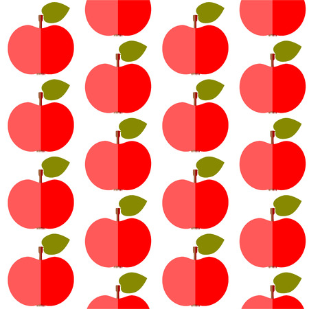 Cute apples seamless pattern in flat design style  Vector