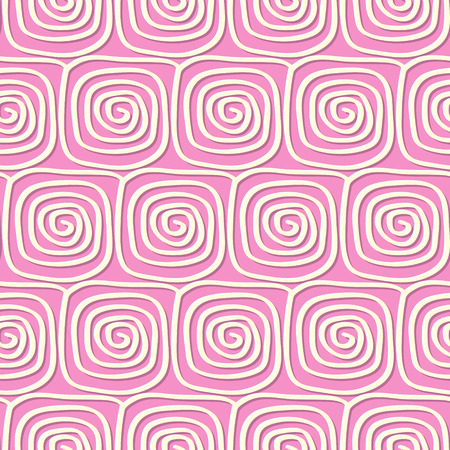 Circles and swirls vintage seamless pattern in vintage style Vector