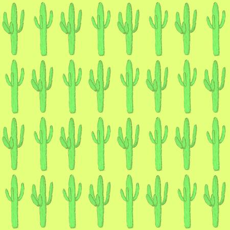 desert cactus: Sketch desert cactus in vintage style