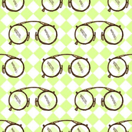 Sketch vintage glasses in vintage style Illustration