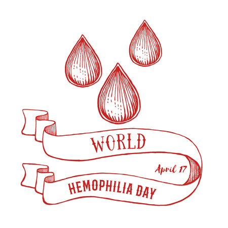 World hemophilia day poster in vintage style, vector