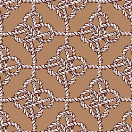 eternity: Engraved eternity eight knot, seamless pattern