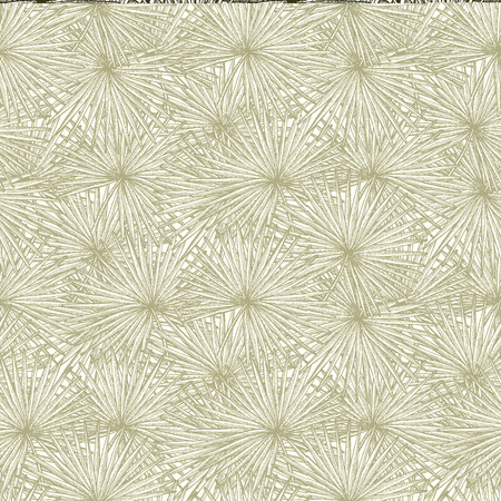 fronds: Engraved palm leaf in vintage style, seamless pattern