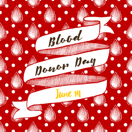 donor: Blood donor day poster with dots