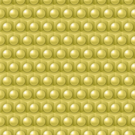 shere: Golden cube and shere pattern, vector tile